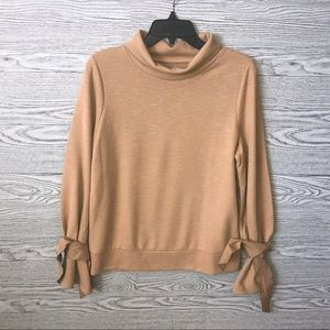 Lou & Grey   NWT   Camel Wrist Tie Sweater (M)